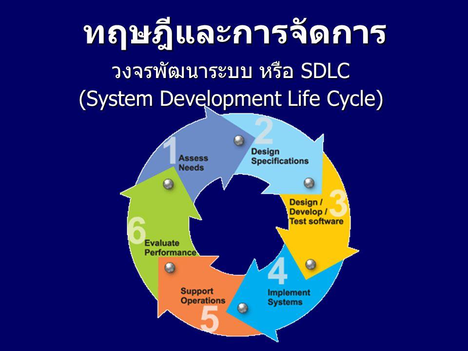 ทฤษฎีและการจัดการ วงจรพัฒนาระบบ หรือ SDLC