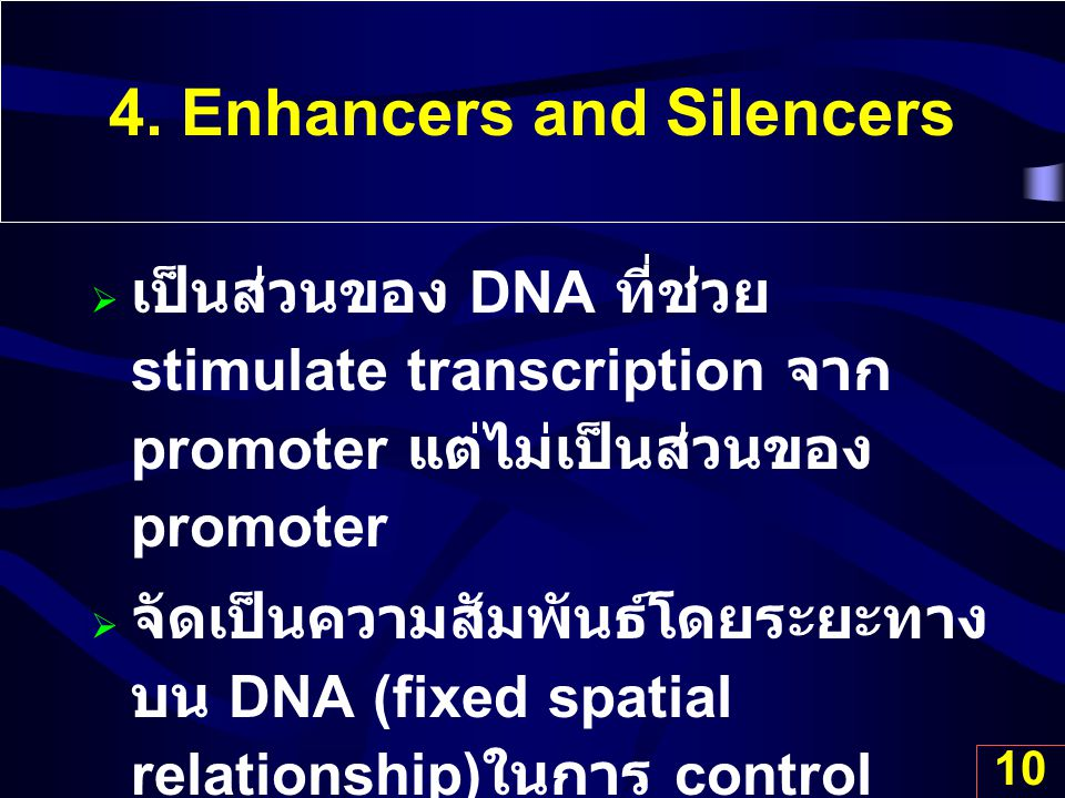 4. Enhancers and Silencers