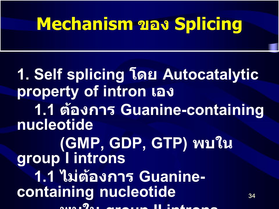 Mechanism ของ Splicing