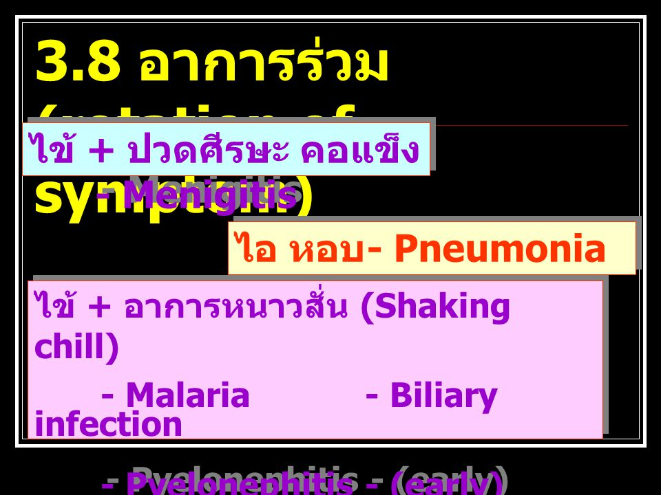 3.8 อาการร่วม (rotation of symptom)