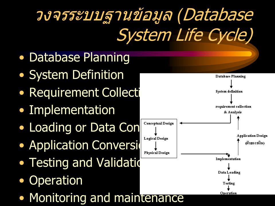 วงจรระบบฐานข้อมูล (Database System Life Cycle)
