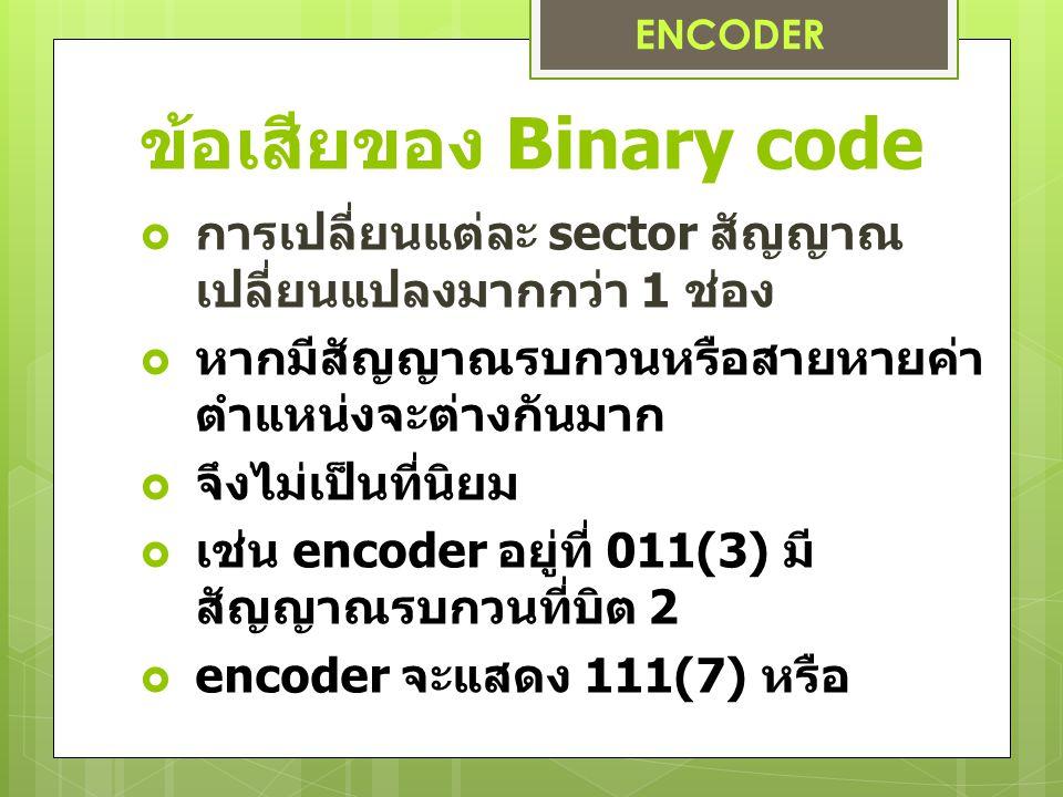 ข้อเสียของ Binary code