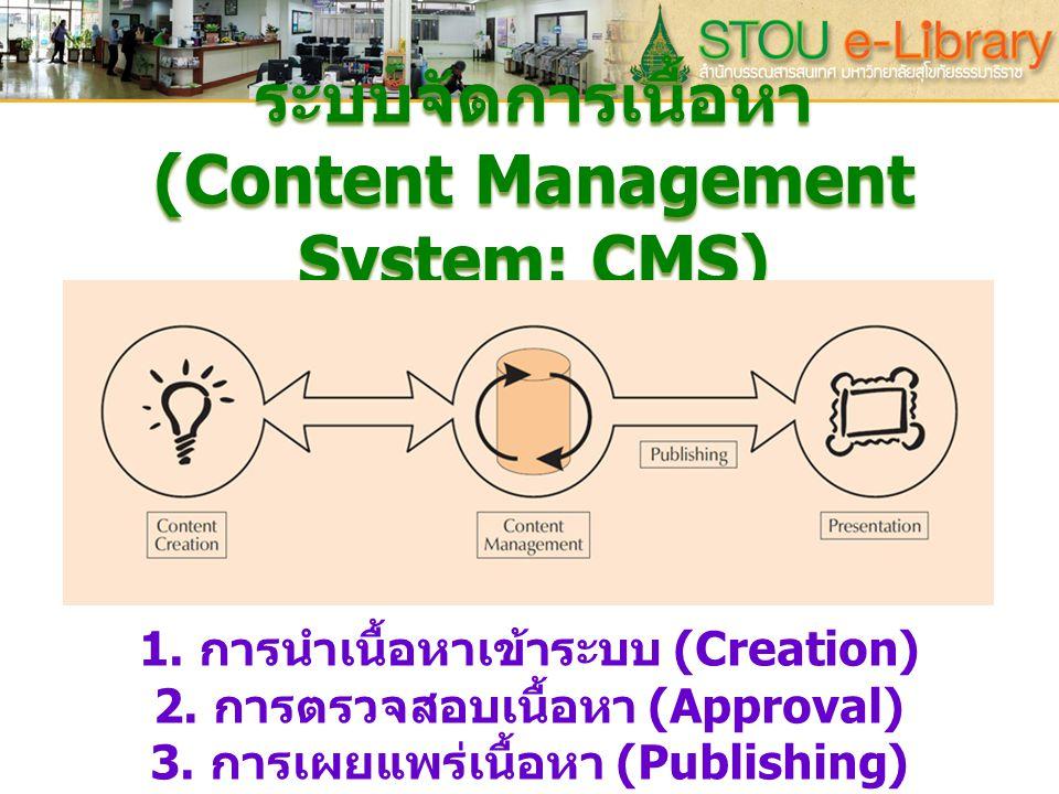 ระบบจัดการเนื้อหา (Content Management System: CMS)