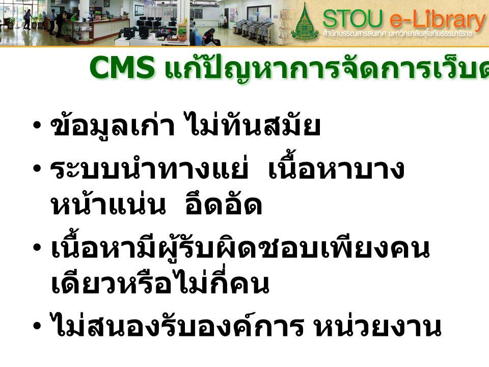CMS แก้ปัญหาการจัดการเว็บด้านไหน