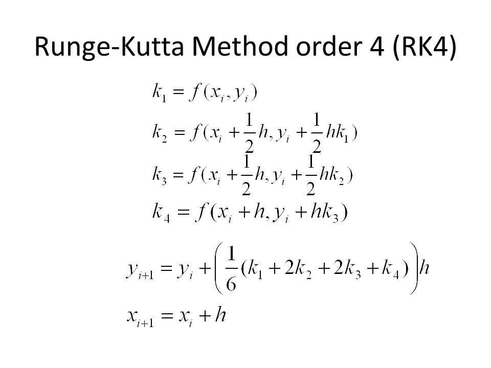 Runge-Kutta Method order 4 (RK4)