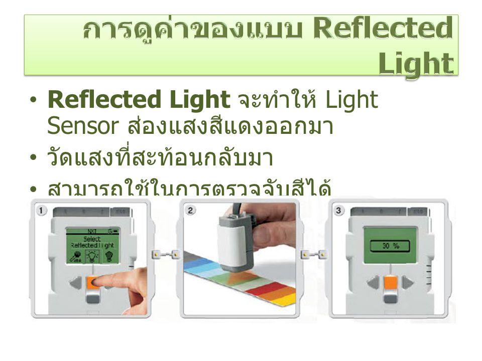 การดูค่าของแบบ Reflected Light