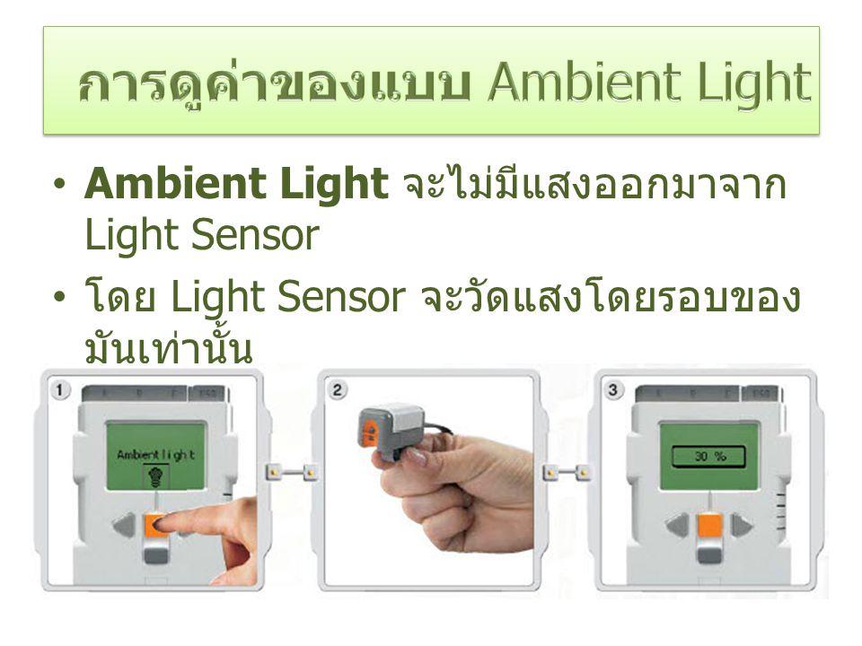 การดูค่าของแบบ Ambient Light