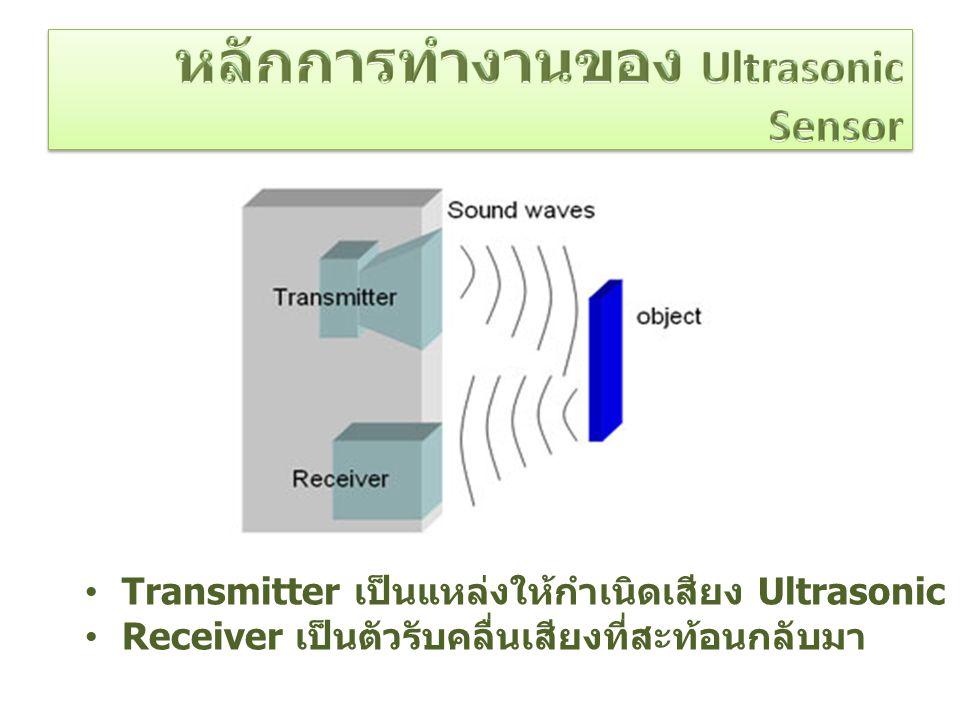 หลักการทำงานของ Ultrasonic Sensor