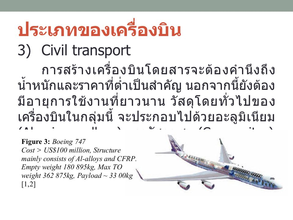 ประเภทของเครื่องบิน Civil transport