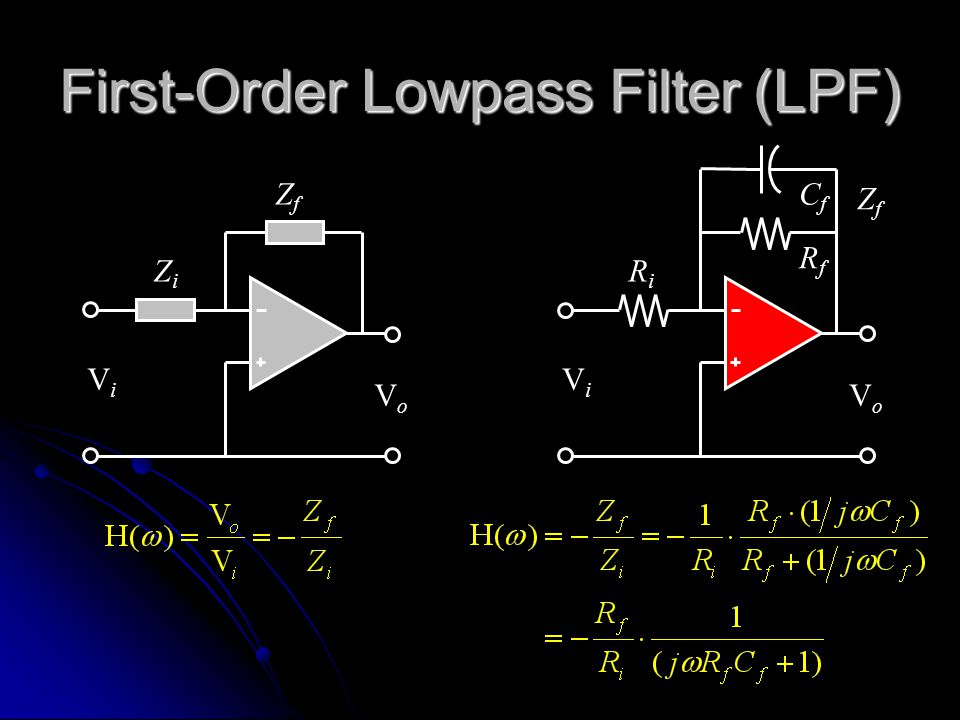 First-Order Lowpass Filter (LPF)