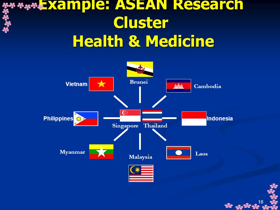 Example: ASEAN Research Cluster Health & Medicine