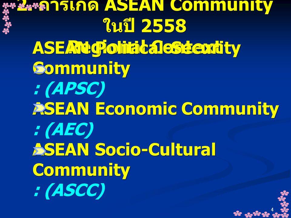 2. การเกิด ASEAN Community ในปี 2558