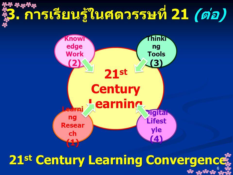 3. การเรียนรู้ในศตวรรษที่ 21 (ต่อ)