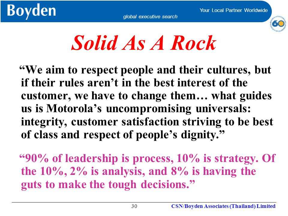 Solid As A Rock