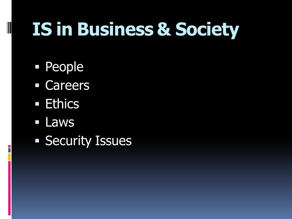 IS in Business & Society