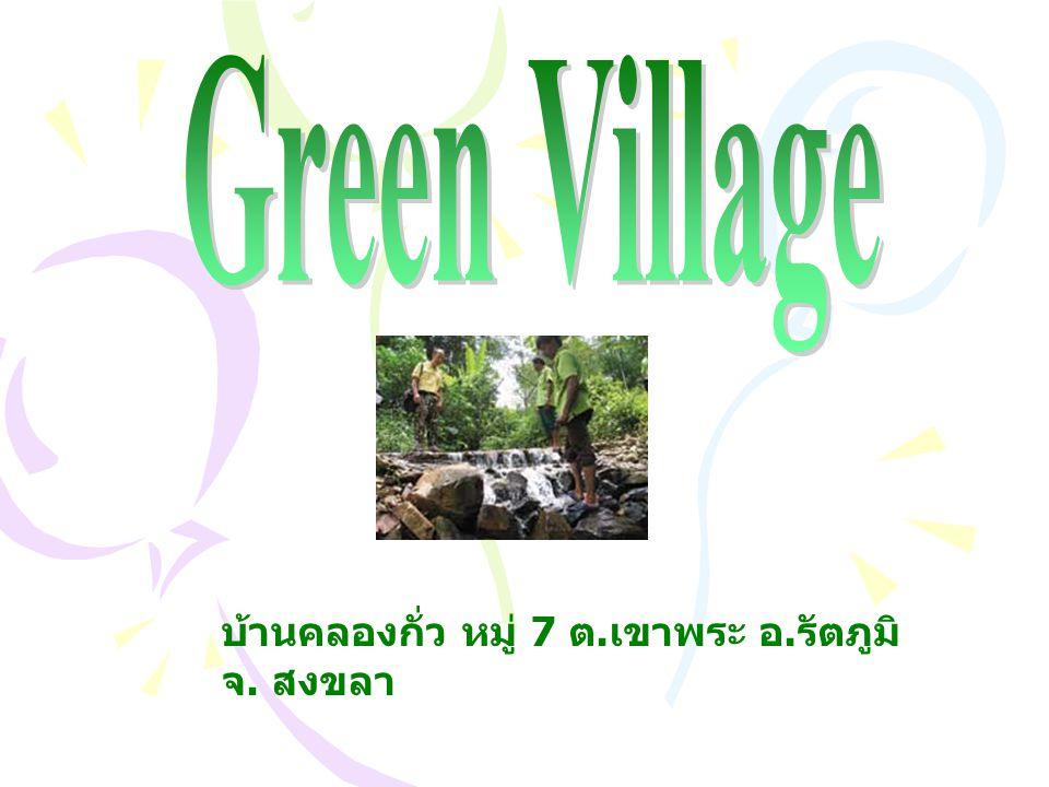 Green Village บ้านคลองกั่ว หมู่ 7 ต.เขาพระ อ.รัตภูมิ จ. สงขลา