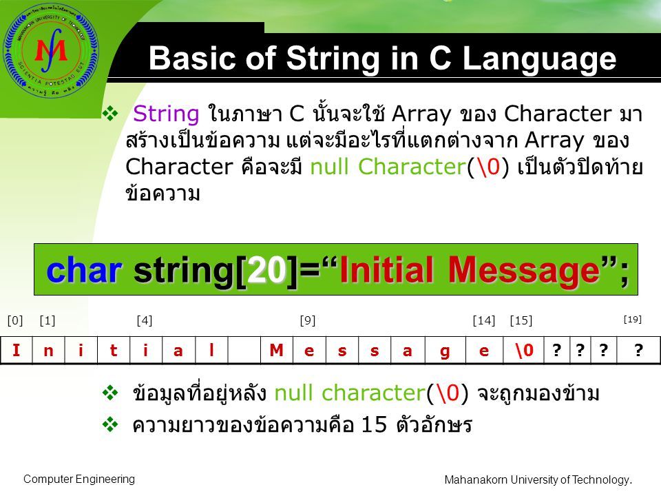 Basic of String in C Language