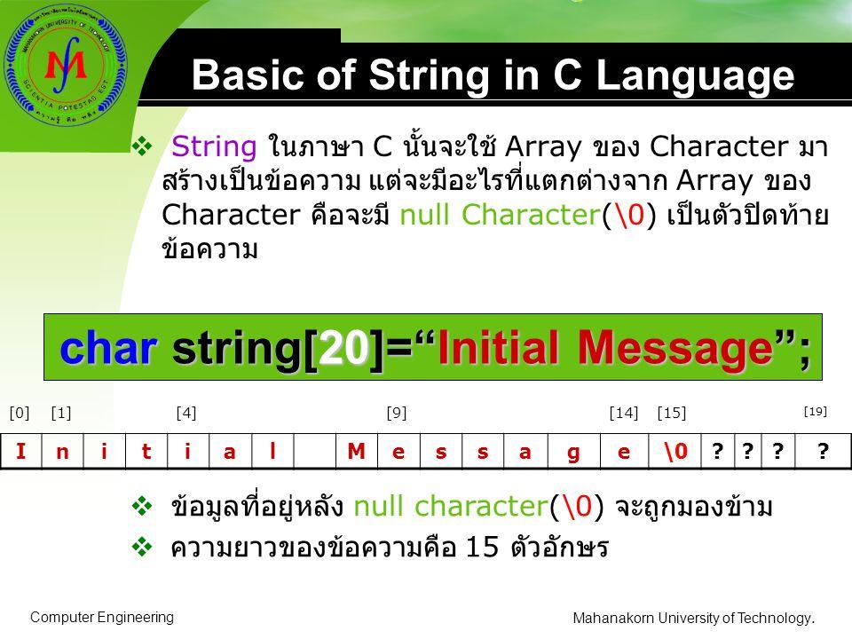 Basic of String in C Language