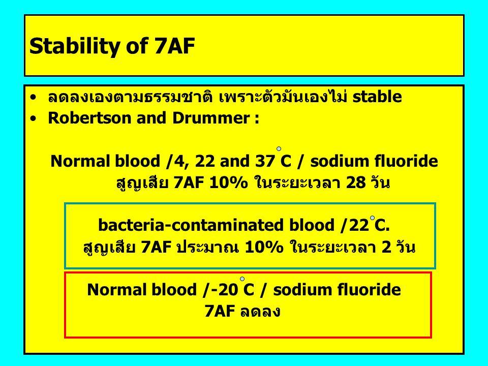 Stability of 7AF ลดลงเองตามธรรมชาติ เพราะตัวมันเองไม่ stable