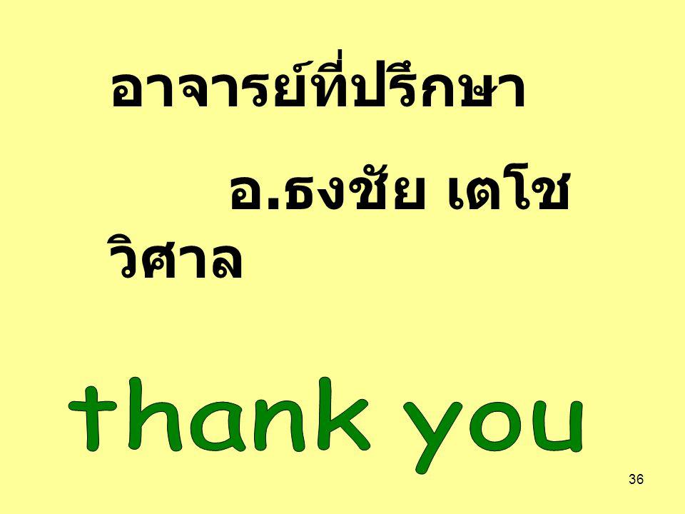 อาจารย์ที่ปรึกษา อ.ธงชัย เตโชวิศาล thank you