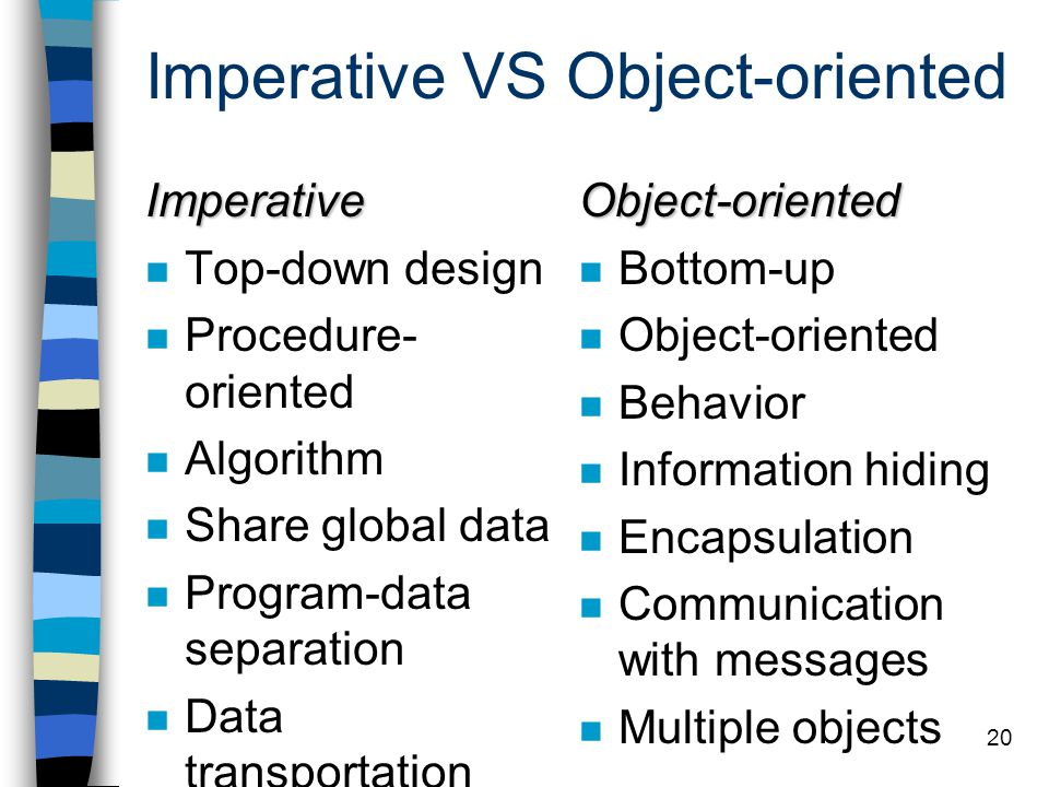Imperative VS Object-oriented