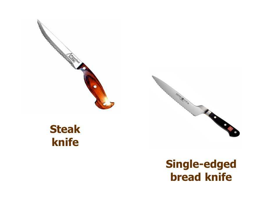 Single-edged bread knife