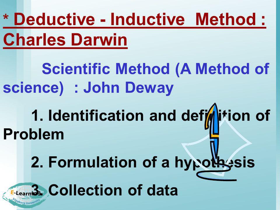 * Deductive - Inductive Method : Charles Darwin