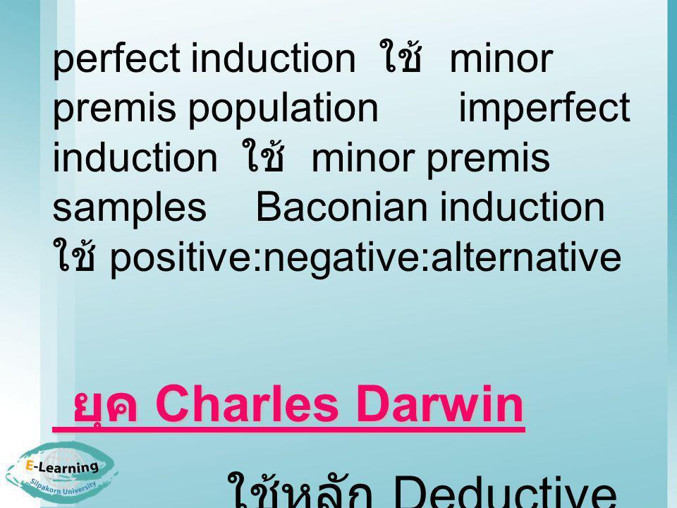 ใช้หลัก Deductive Inductive Method