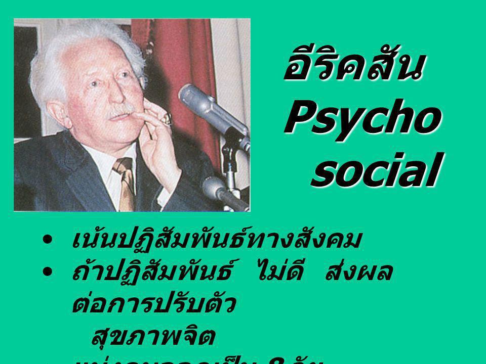 อีริคสัน Psychosocial เน้นปฏิสัมพันธ์ทางสังคม