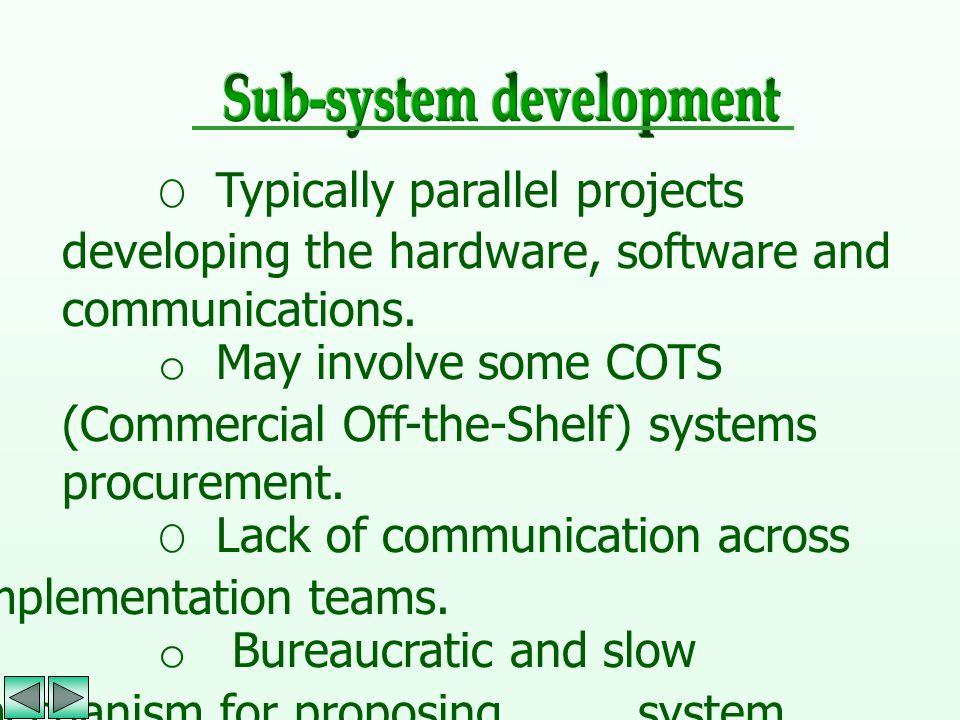 Sub-system development