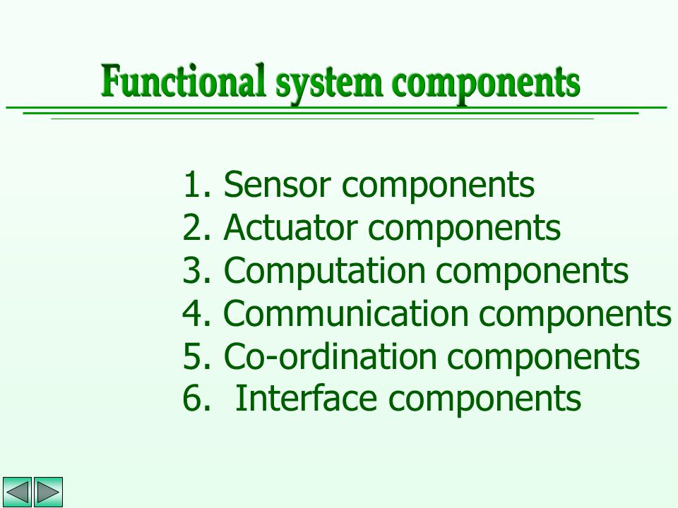 Functional system components