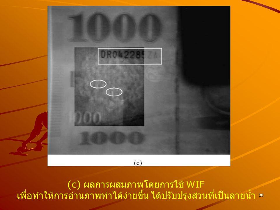 (c) ผลการผสมภาพโดยการใช้ WIF