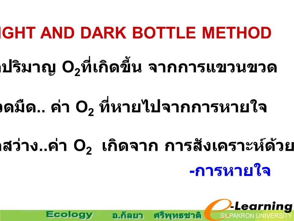 4. LIGHT AND DARK BOTTLE METHOD