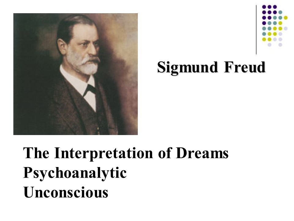 Sigmund Freud The Interpretation of Dreams Psychoanalytic Unconscious