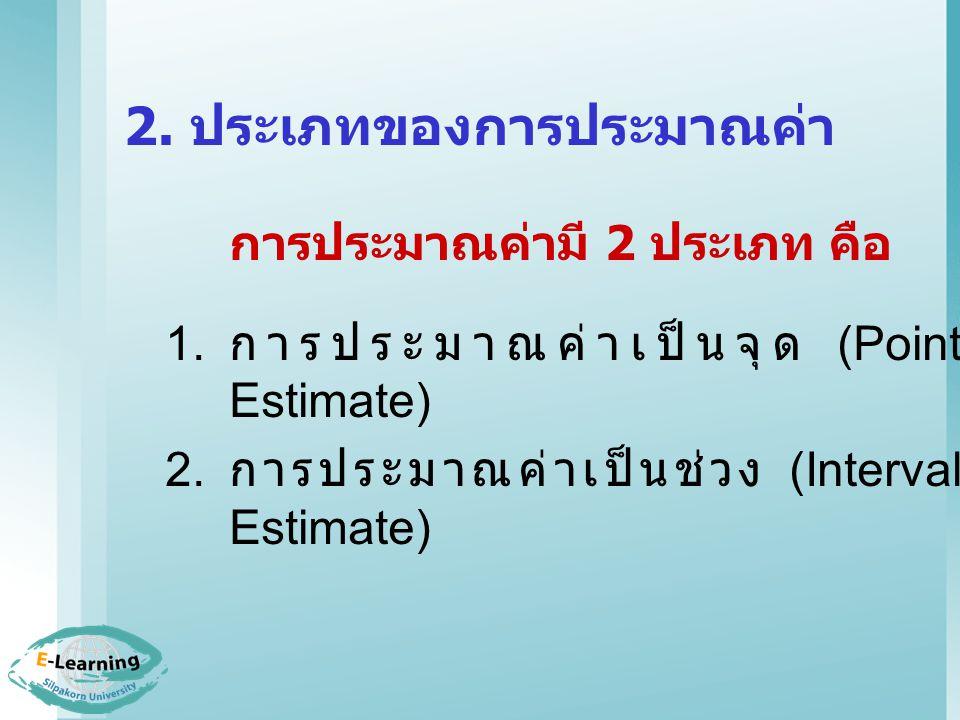 2. ประเภทของการประมาณค่า