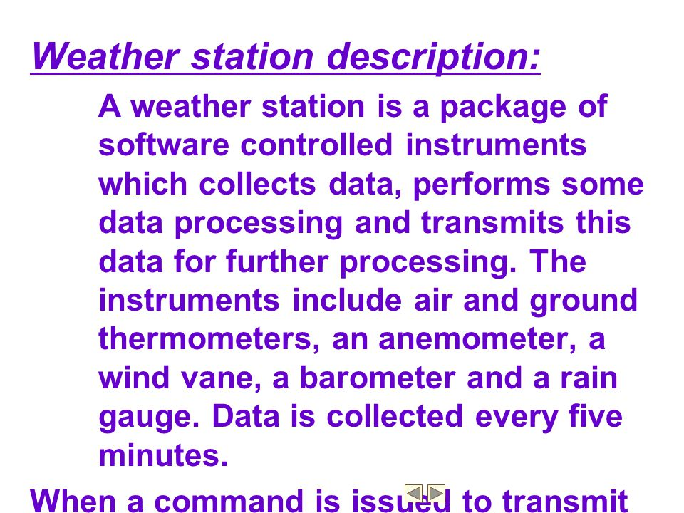 Weather station description: