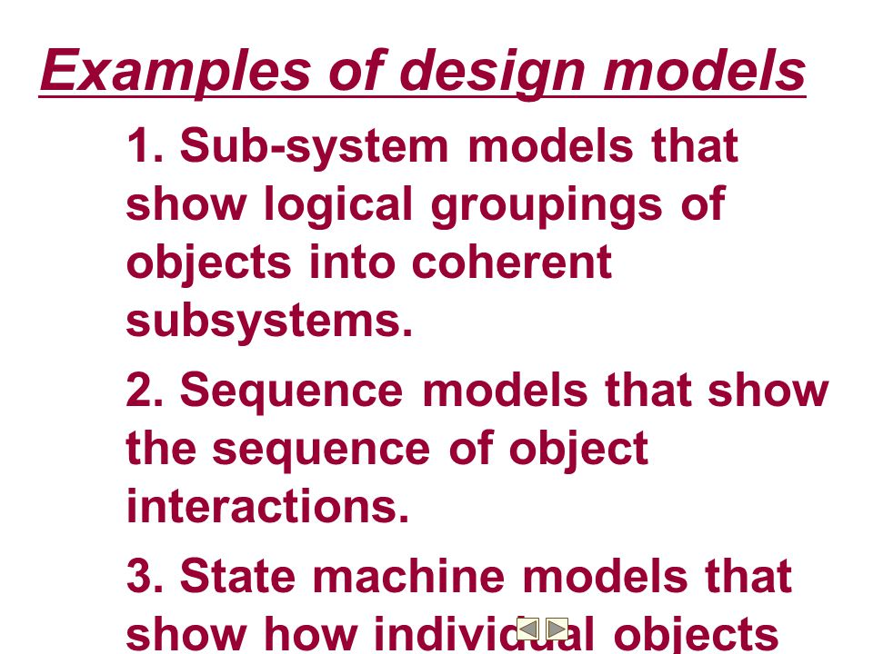 Examples of design models