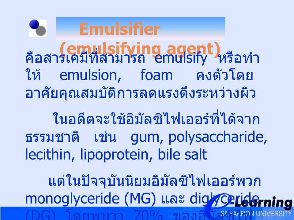 Emulsifier (emulsifying agent)