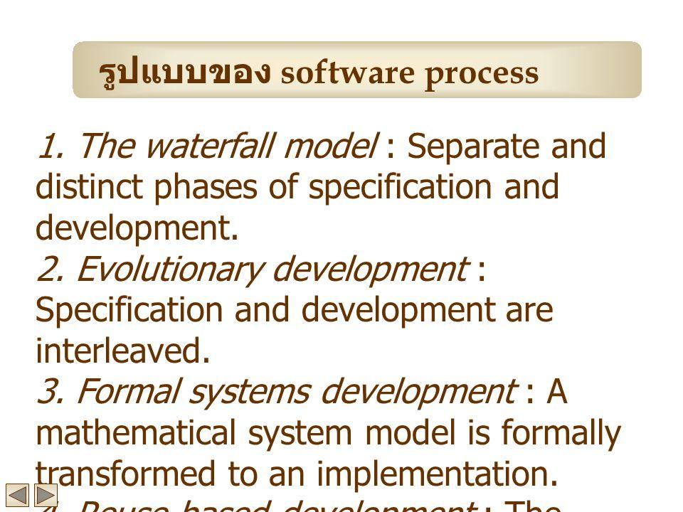 รูปแบบของ software process