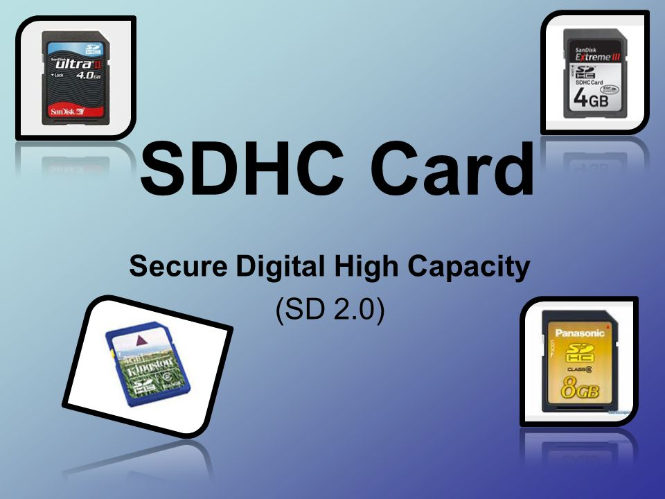 Secure Digital High Capacity (SD 2.0)