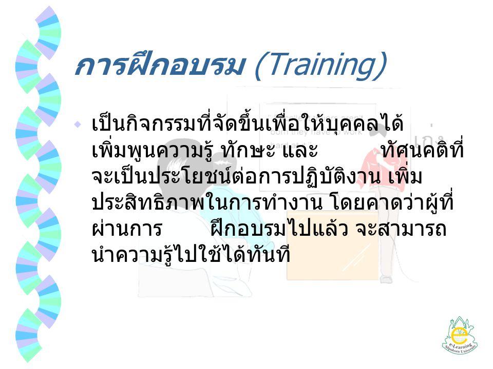 การฝึกอบรม (Training)