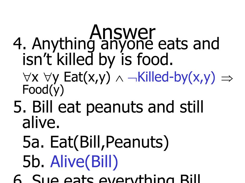 Answer 4. Anything anyone eats and isn't killed by is food.
