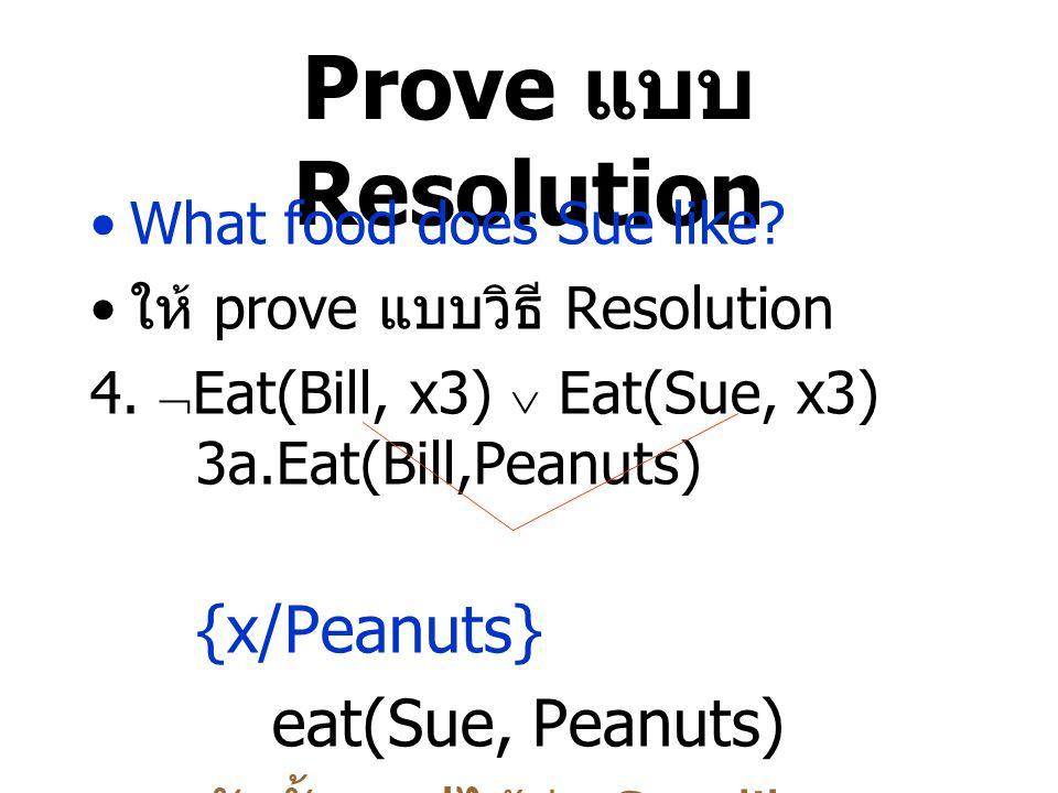 ดังนั้นสรุปได้ว่า Sue likes peanuts.