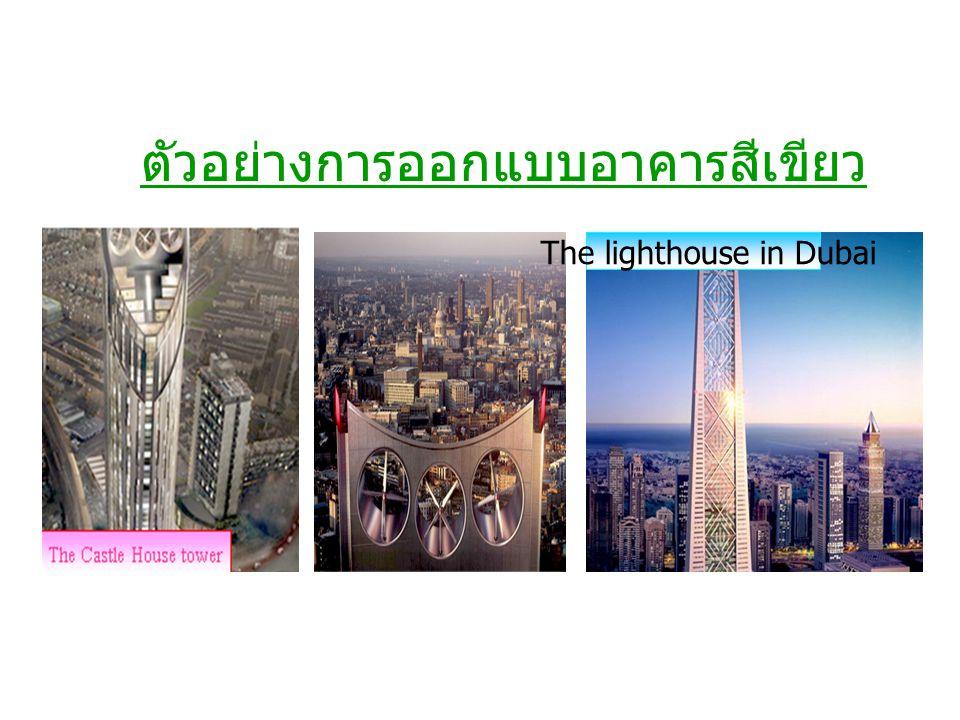 ตัวอย่างการออกแบบอาคารสีเขียว