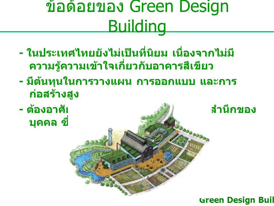 ข้อด้อยของ Green Design Building