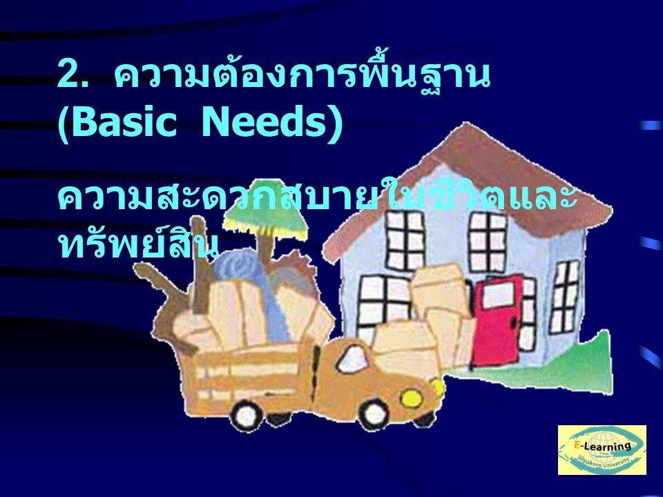 2. ความต้องการพื้นฐาน (Basic Needs)