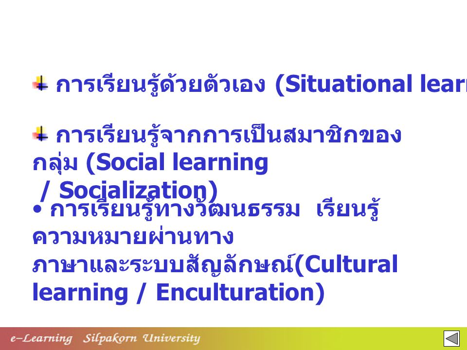 การเรียนรู้ด้วยตัวเอง (Situational learning)