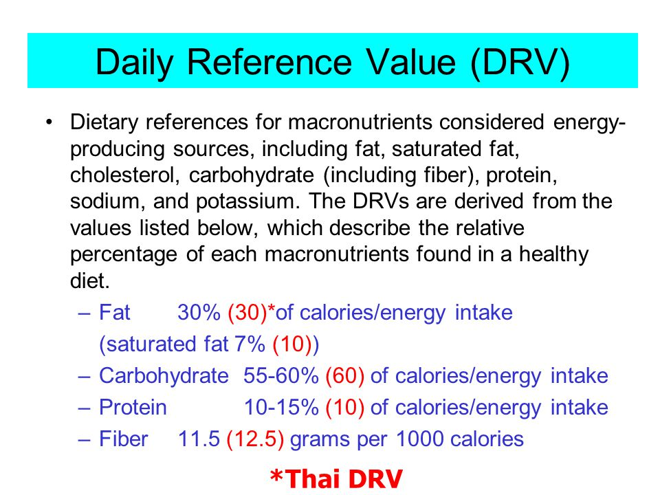 Daily Reference Value (DRV)
