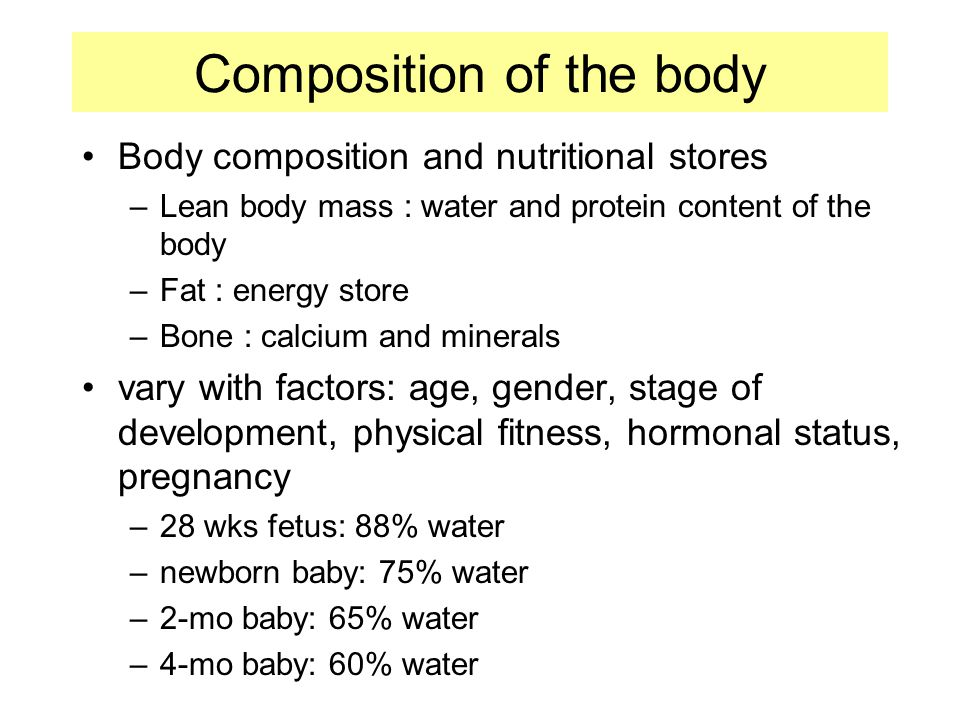 Composition of the body