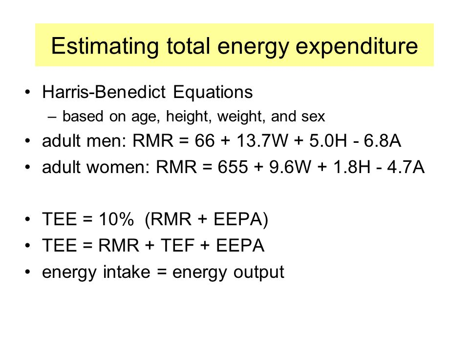 Estimating total energy expenditure